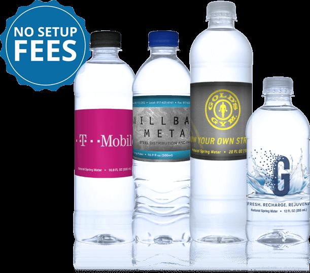 Custom Label Bottled Water Personalized Bottled Water Alexa Springs